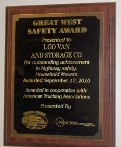Household Goods Mover-Nebraska Trucking Association Safety Award