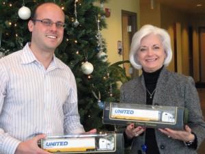 Donated United Van Lines collectible trucks displayed